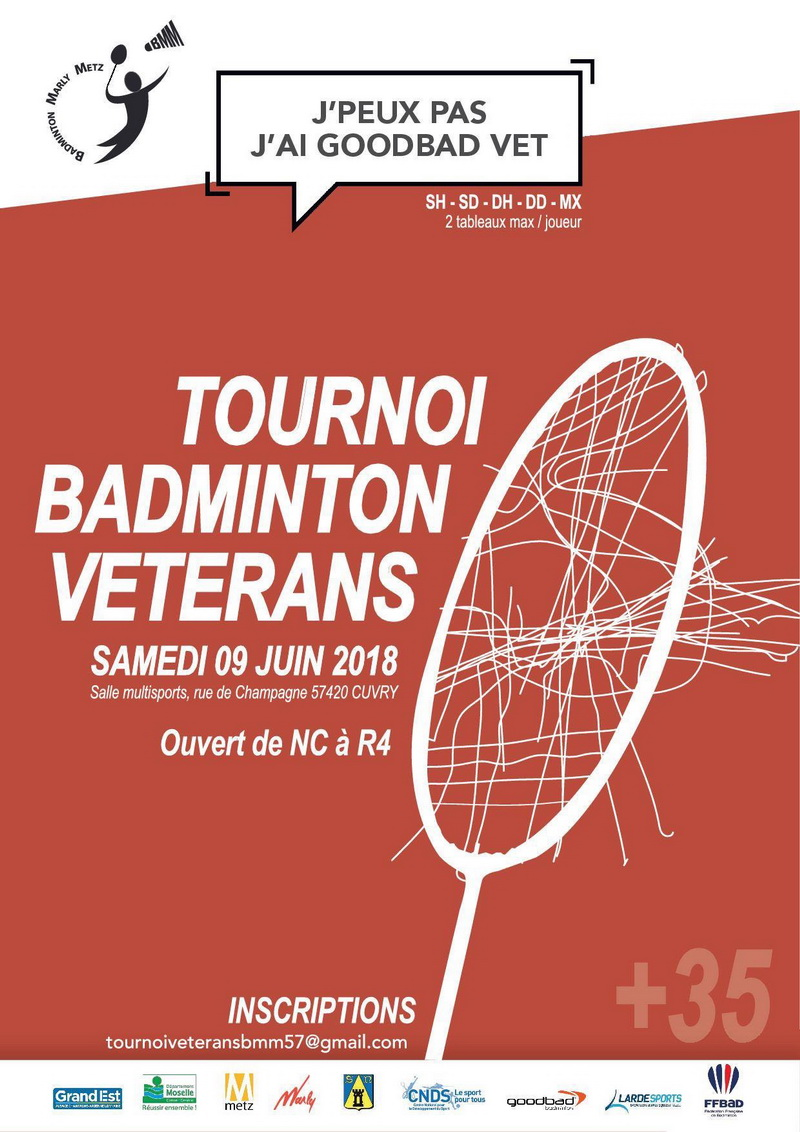 Tournoi Goodbad Vétérans 2018