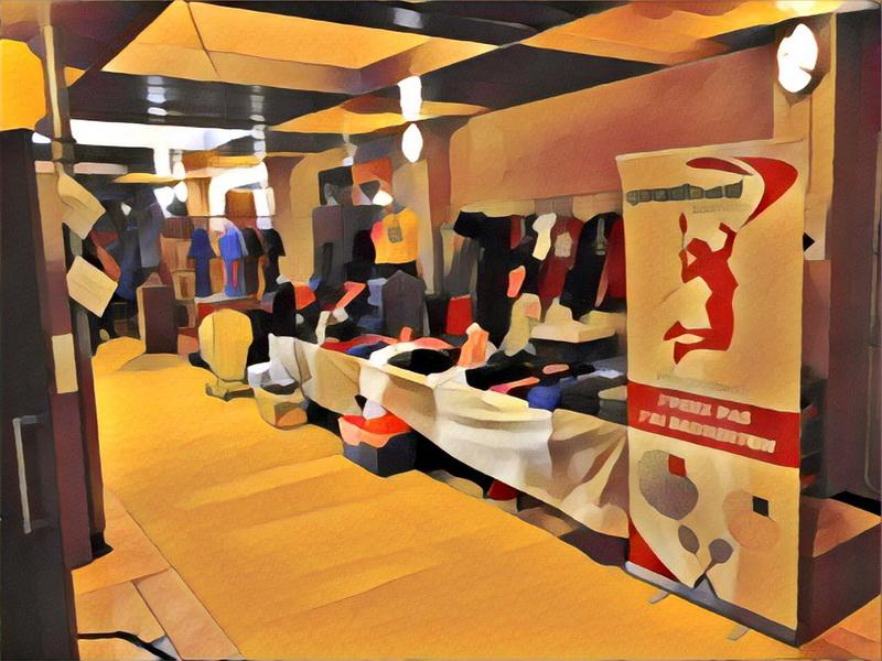 Le stand Goodbad aux Masters d'Orleans de badminton 2018