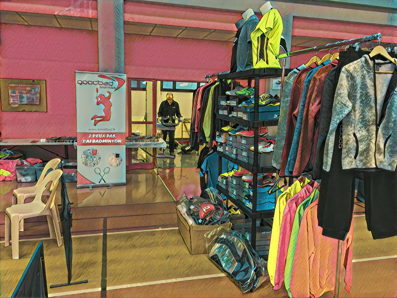 Le stand Goodbad badminton à Pont à Mousson 2017